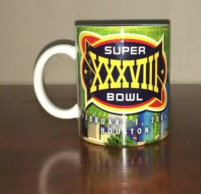 Superbowl XXXVIII Coffee Cup Carolina vs New England Feb 1, 2004   Houston TX
