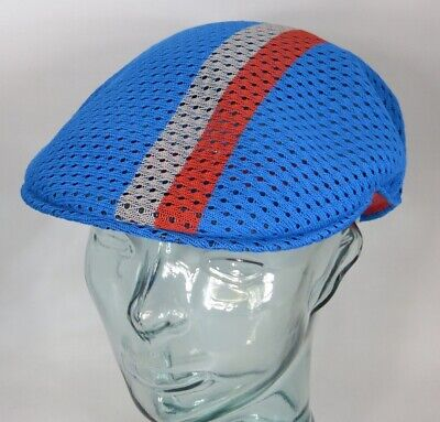 KANGOL MESH STRIPE 504 Flatcap Ivy Cap Sommermütze Golfcap Mütze blau NEU Kangol Stripe