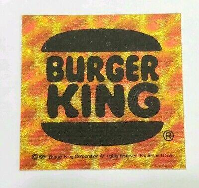 Vintage Decal - Burger King - Bike Reflector - 1970s