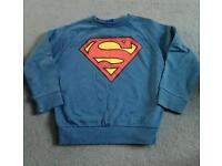 Boys superman lightweight jumper age 5-6 years