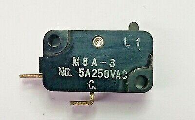 Mulon M8a-3spst- Off-on Micro Switch 5a 250v Ac