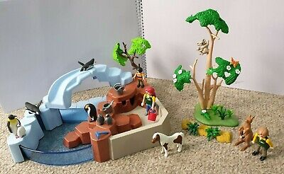 Playmobil bundle, Penguin enclosure, koala tree and kangaroo set