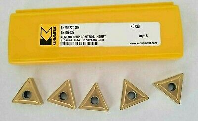 Kennametal 5 Pcs Tnmg 432 Kc 730 Carbide Inserts Turning Lathe 220408 New