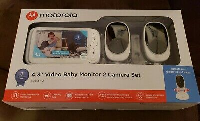 "Motorola 4.3"" Video Baby Monitor 2 Camera Set - BLISS54-2 - NEW"