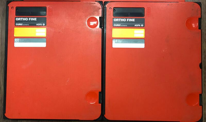 (S) Agfa Curix Ortho Fine Screen Cassette 24cm X 30cm Lot Of 2 (b332)
