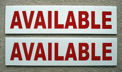 2 Available 6 X 24 Real Estate Sign Riders 2 Sided Outdoor New Free Ship