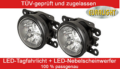 2 in 1 LED Tagfahrlicht + LED Nebelscheinwerfer Renault Tagfahrleuchte TFL DRL