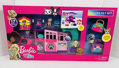17PCS Barbie Deluxe Pet Set Dreamhouse Barbie Loves Pets Puppy Kitten Dog Sealed