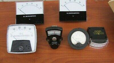 Lot Of 6 Vintage Electric Amperes Ohm Panel Meters Gauge Steam Punk