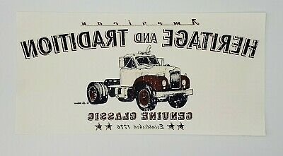 Lot Of 6 Air Waves Distressed Look Antique Semi Truck T Shirt Iron On Transfers