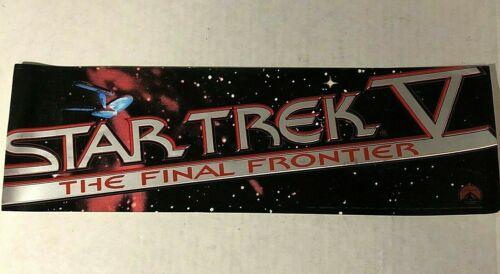 STAR TREK V 5 FINAL FRONTIER~ 1989 Window Cling Sticker RARE Promo