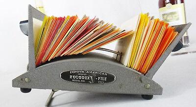 Rolodex Organizer Card Desktop Vintage V File V524 J Steel Vtg Address Zephyr