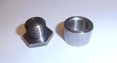Stainless Steel O2 Sensor Bung And Plug Kit 02 Sensor 18 X 1.5 Made In Usa
