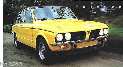 TRIUMPH DOLOMITE SPRINT SPEC SHEET / Brochure: 1974,1975,1976,1977,...........