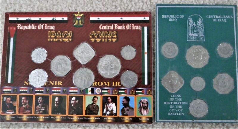 Iraqi Souvenir Coin, Iraq Leaders & Restoration of Babylon sets