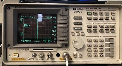 Hp 8593e Spectrum Analyzer 9 Khz To 22 Ghz Hpib