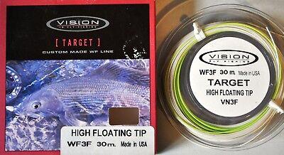 Fliegenschnur 29 Vision Target WF3F Schwimmschnur Keulenschnur High Floating Tip