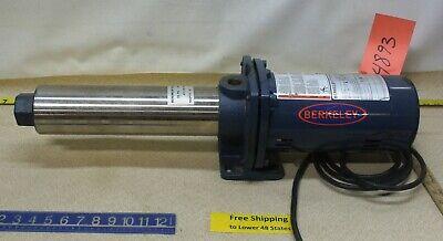 Berkeley Booster Pump Mgp7d-02 34 Hp 115230 V 3450 Rpm 1ph 78 Psi Freeship