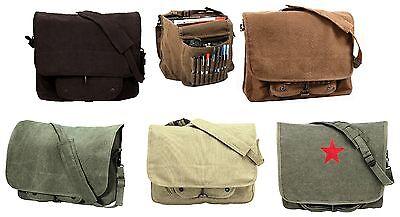 Vintage Canvas Shoulder Bags - Stylish Work School Classic Messenger Bag Packs Classic Vintage Messenger Bag