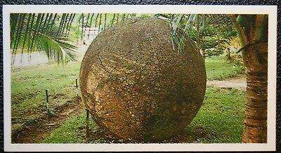 Giant Granite Spheres of Costa Rica     Original Colour Card   VGC