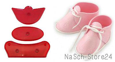 JEM Baby Schuhe Ausstecher Life Size Baby Bootee Tauftorte Geburt Fondant