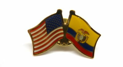 US and Ecuador Flag Lapel Pin / US & Ecuador Pin