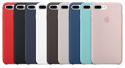 Authentic Apple iPhone 7 Plus Silicone case - Red, Black, White, Cocoa, Blue