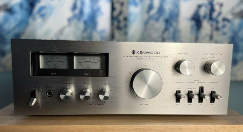 Vintage Kenwood KA-5700 Stereo Integrated Amplifier Recapped and cleaned