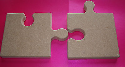 18mm Thick MDF Freestanding  Joining Jigsaw Pieces 150m tall craft blank /plaque