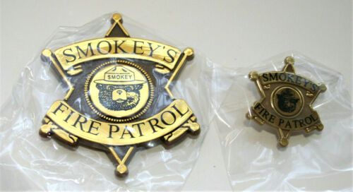 2 Smokey The Bear Forest Fire Patrol Prevention Badge Pin Button NOS New 2000