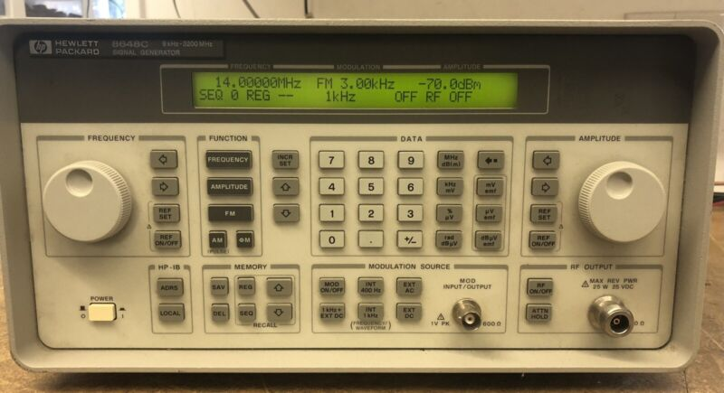 Agilent HP 8648C Synthesized Microwave RF Signal Generator 9kHz to 3.2Ghz