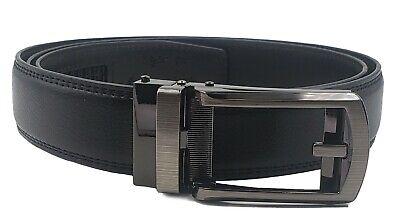 AG Wallets Mens Leather Ratchet Belt Fits Waist Size Up to 48