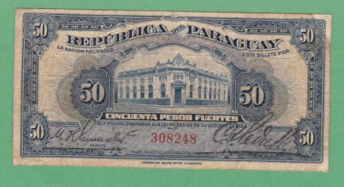 Paraguay 50 Pesos Fuertes  Note P-165  VERY GOOD