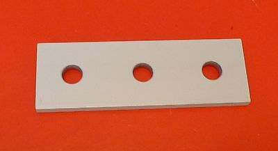 8020 8020 Equivalent Aluminum 3 Hole Joining Plate 10 Series Pn 4118 New
