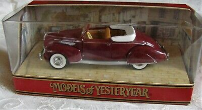 Matchbox Models of Yesteryear 1938 Lincoln Zephyr Convertible Diecast Car Scale