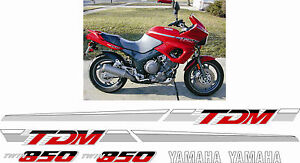 Yamaha tdm 850 1992 full replacement decals stickers for Yamaha replacement decals