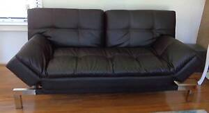 Chocolate Leather Fold Out Sofa Double Duvan Ringwood East Maroondah Area Preview