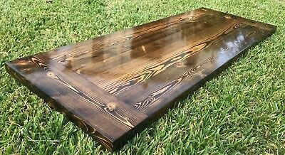 Rustic Reclaimed Wood Desk Home Bar Coffee Night Table Top Restaurant Farmhouse