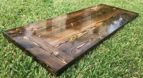 Rustic Reclaimed Wood Desk Home Bar Coffee Night Table Top  Restaurant Farmhouse