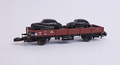 Marklin Z gauge Flat Wagon with Cars
