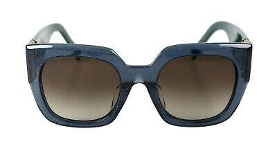 Marc Jacobs Damen Sonnenbrille MARC 110/S 048 GLTTRBK GRN Glitter Blau Petrol