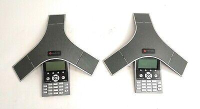 Lot Of 2 Polycom Soundstation Ip 7000 2201-40000-001 Poe Conference Phone