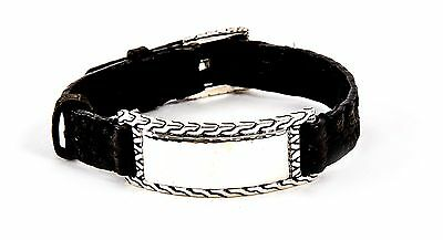 John Hardy Classic ID Sterling Silver buckle bracelet MSRP