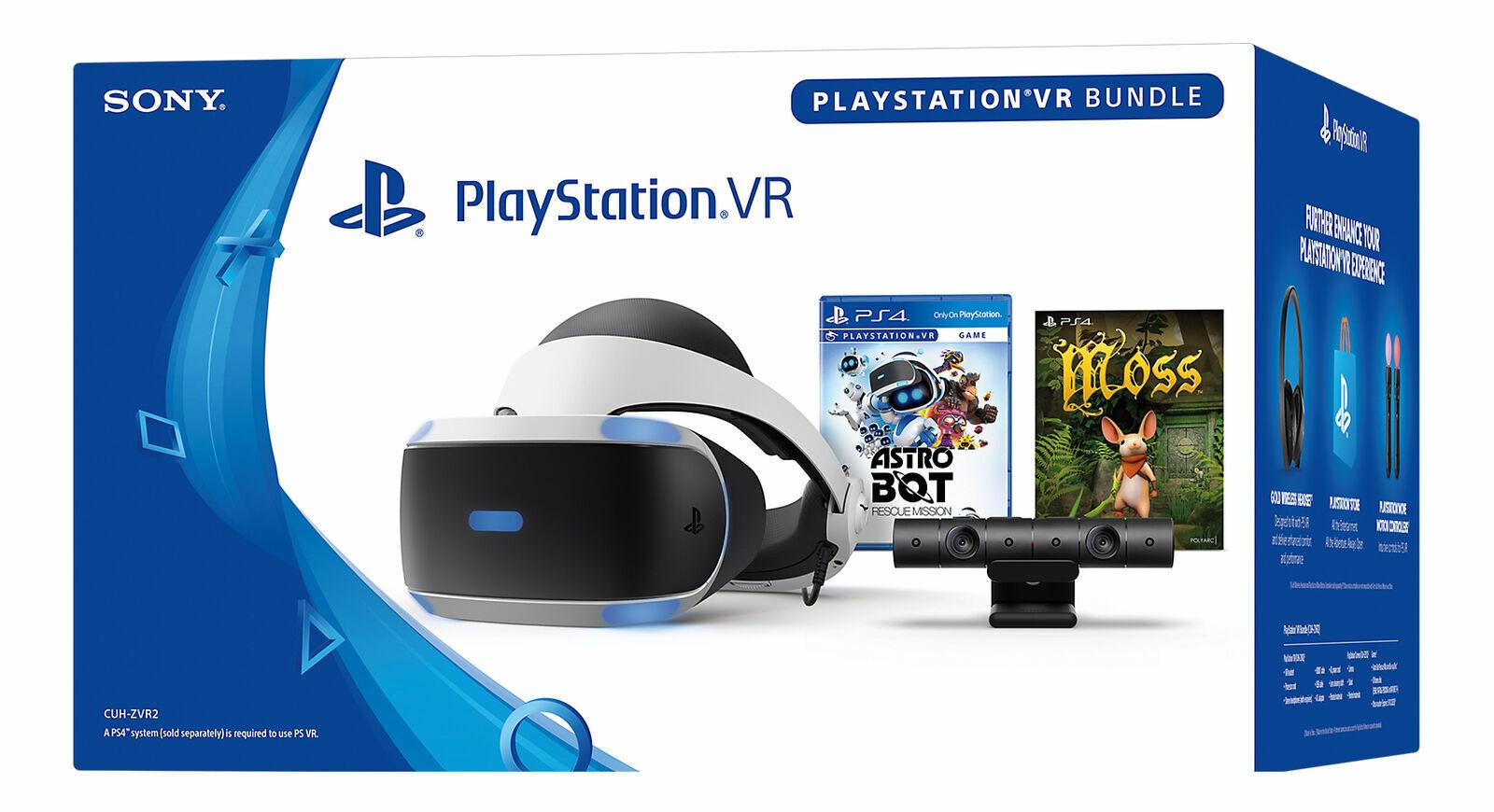 Sony PlayStation VR Bundle Headset /& Camera No Games PS4 PSVR FREE Shipping!