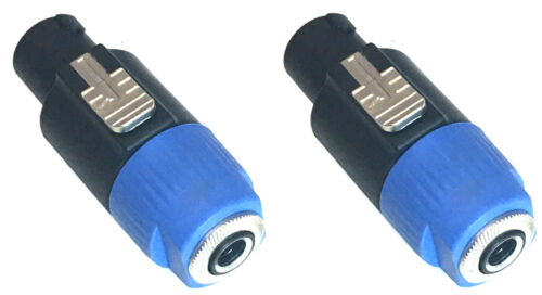 """MUSYSIC Speakon 4-Pole to 1/4"""" TS Female Adapter Converter Jack Connector 2-Pack"""