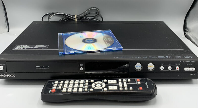 Magnavox Hard Disc Drive & DVD Recorder MDR533H/F7 W/Remote- Factory Recondition