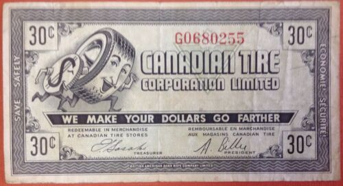 Canadian Tire Coupon 30c CTC -7 G 0680255
