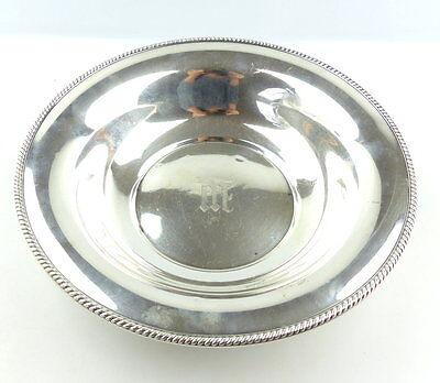 e4437 Große Lorel Nelson Schale aus 925 (Ag) Silber mit Monogramm