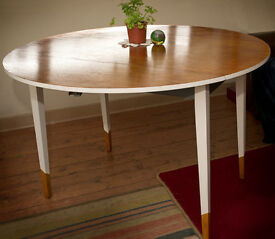 mid century retro drop leaf dinig table ITEM SOLD