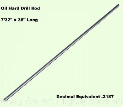 732 Drill Rod 36 Long Oil Hard Steel Grade O1 Decimal Equivalent .2187
